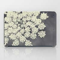 lace iPad Cases featuring Black and White Queen Annes Lace by Erin Johnson