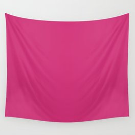 Fuchsia Pink - Solid Color Collection Wall Tapestry