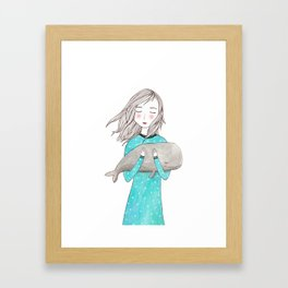 Just want to hold you Framed Art Print