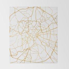 ROME ITALY CITY STREET MAP ART Throw Blanket