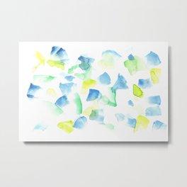 180527 Abstract Watercolour 9 | Watercolor Brush Strokes Metal Print