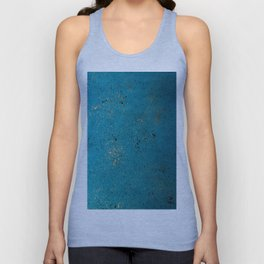 Tiffany Blue, Black & Gold Spatter Unisex Tank Top