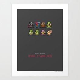 Mega MotU: Horde & Snake Men Art Print