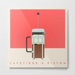Cafetière à Piston (French Press) Metal Print