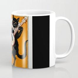 Black Cat for Halloween with Vampire Bunny Coffee Mug
