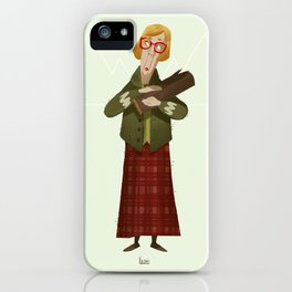 Log Lady - Twin Peaks iPhone Case