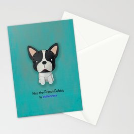 Nico the French Bulldog by leatherprince Stationery Cards