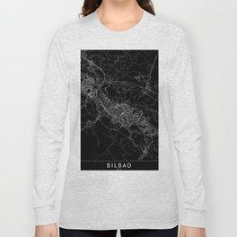 Bilbao Black Map Long Sleeve T-shirt