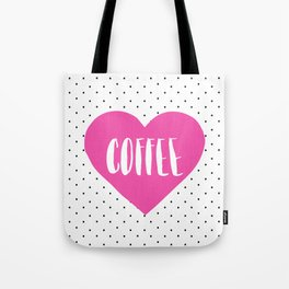 Coffee Heart - Pink Tote Bag