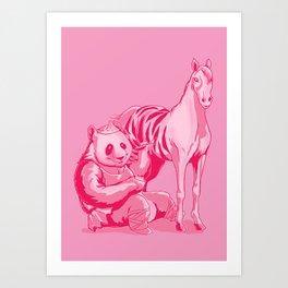 Paint The Zebra Art Print