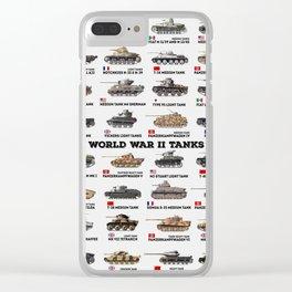 World War II Tanks Clear iPhone Case