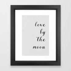 Love By The Moon Framed Art Print