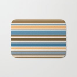Wedgewood, Brown and Saffron Horizontal Stripes Bath Mat