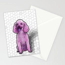 Poodle in Amethyst Mosaic Stationery Cards