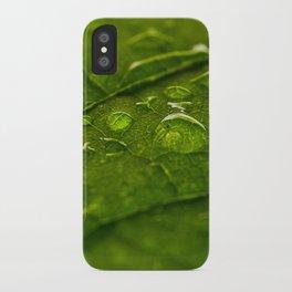 Green Bubbles 2 iPhone Case