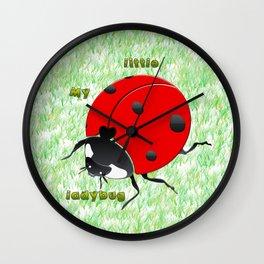 My little ladybug Wall Clock