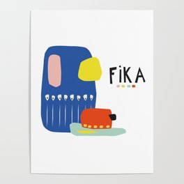 Fika Collage Poster
