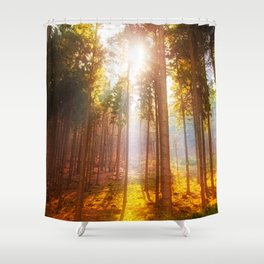 Sunshine forest Shower Curtain