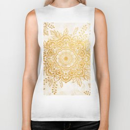 Queen Starring of Mandala-Gold Sunflower I Biker Tank