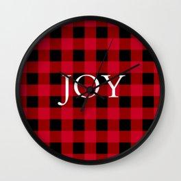 Joy Red Buffalo Check Wall Clock