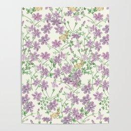 Winter Blooms Pattern Poster