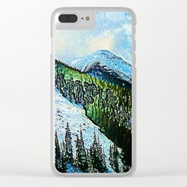 Downhill Slide Clear iPhone Case