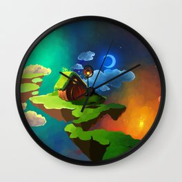 Little Night House Wall Clock