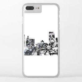 Atlantic City B&W - Splatter Clear iPhone Case