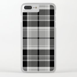 Black & White Tartan (var. 2) Clear iPhone Case