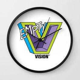 Empty V (purple) Wall Clock