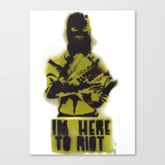 WRG - Weekly Riot Group Canvas Print