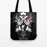horror Tote Bags featuring Horror by Lowercase Industry