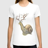 snail T-shirts featuring Snail by Alesha