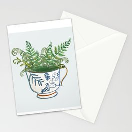 Fern in a Blue and White Tea Cup Stationery Cards