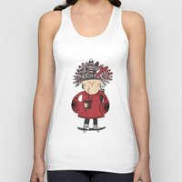 native american Tank Tops featuring Native American Skater Boy by Farnell