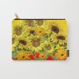 GOLDEN-RED SUNNY YELLOW SUNFLOWERS Carry-All Pouch