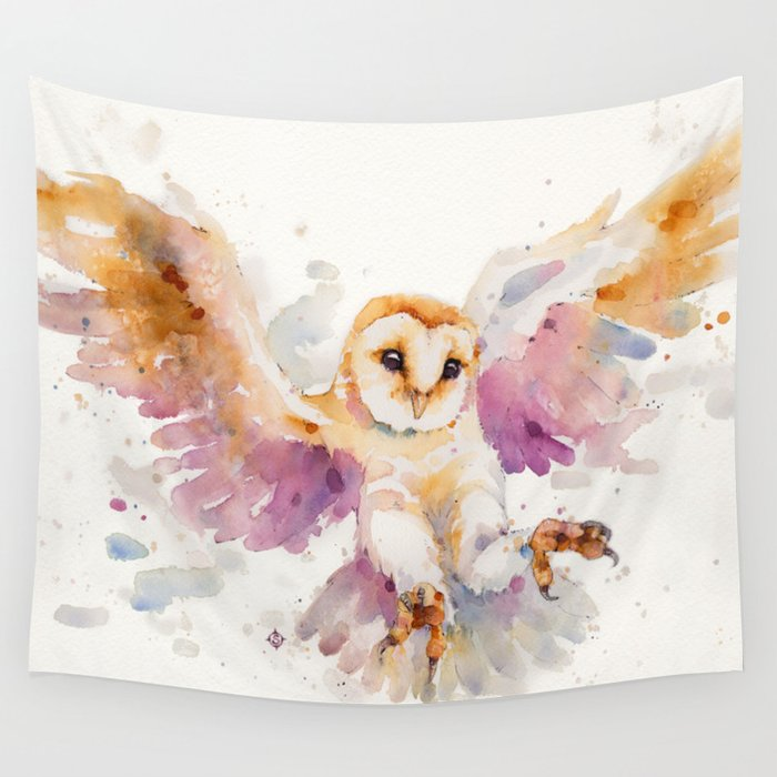 Night Owl Keepers curates Twilight Owl Wall Tapestry by sillierthansally at Society 6