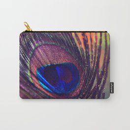 purple peacock feather  Carry-All Pouch