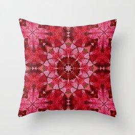Cranberrybush Viburnum mandala Throw Pillow