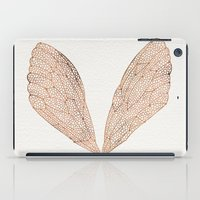 rose iPad Cases featuring Cicada Wings in Rose Gold by Cat Coquillette