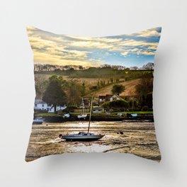 Mylor Creek - Sapphire Throw Pillow