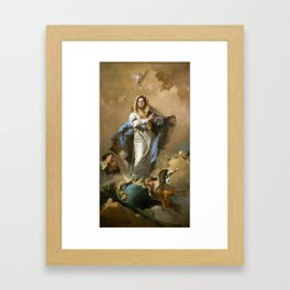 The Immaculate Conception by Giovanni Battista Tiepolo (c 1768) Framed Art Print