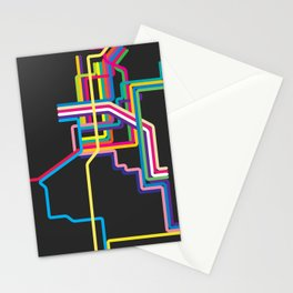 kolkata metro map Stationery Cards