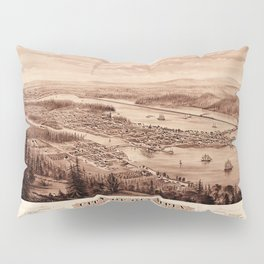 Map Of Olympia 1879 Pillow Sham