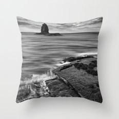 Black Nab Throw Pillow