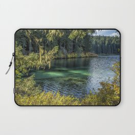 Emerald Tones of Clear Lake Laptop Sleeve