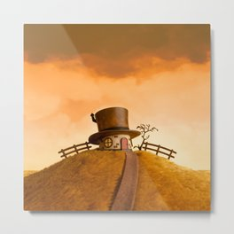 The House in the Hat Metal Print