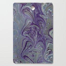 Purple, Blue, & Green Marbled Cutting Board