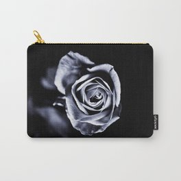 Silver Petals Carry-All Pouch
