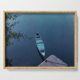 Blue Canoe Serving Tray